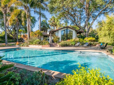 Photo for Expansive and modern home with pool and tennis court!