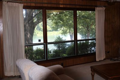 River view from the living room