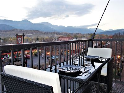 Photo for THE LOFT in the HEART of Old Colorado City - AMAZING VIEWS! Walk to everything!