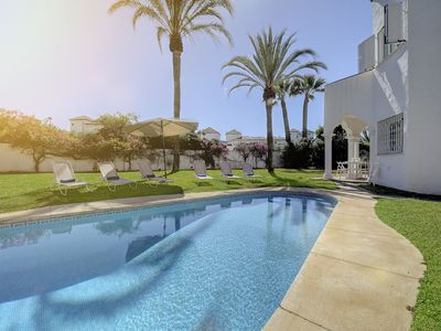 Photo for Holiday villa 5 minutes walk from Puerto Banus-no car needed, walk everywhere!