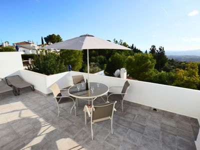 Photo for Beautiful house with 2 pools, AC, Wi-Fi, UK TV and stunning views!