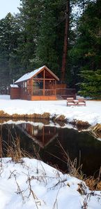 Photo for Cozy one bedroom cabin sitting creek front