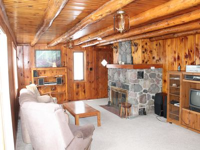 Photo for Knotty Pine Retreat On 200 Acre All Sports Jewell Lake W/ Row Boat & Paddle Boat