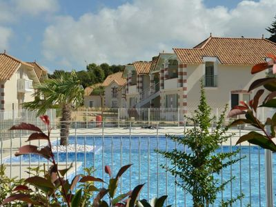 Photo for New 2 bedroom apartment with mezzanine, private pool, beach and forest