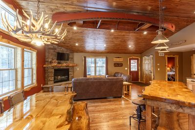 Great family gathering spaces.