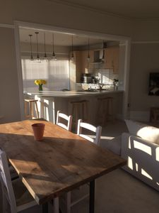 View from dining area to kitchen