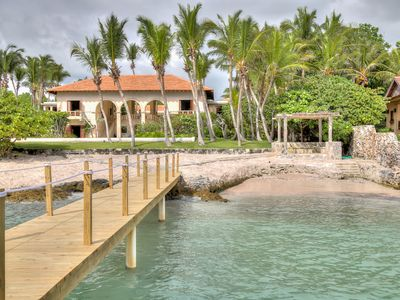 Photo for Beachfront Stone-Arched Villa with Rustic Expressions