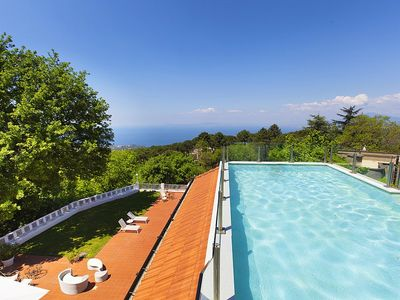 Photo for Villa Godiva: A splendid and luminous two-story villa located on a hillside, facing the sea, with Free WI-FI.