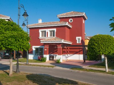 Photo for Luxury 3 Bed Villa - Sleeps 6, own Pool, Golf Course on site.