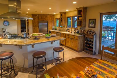 Open, spacious kitchen includes casual dining areas