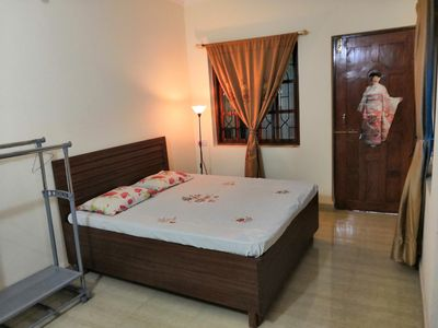Photo for Cozy furnished airconditioned apartment close to Mapusa, Calangute, Baga, Panjim
