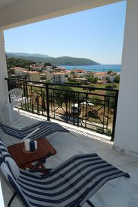 Photo for Close to the beach spacious apartment with a unique view of Finikounda