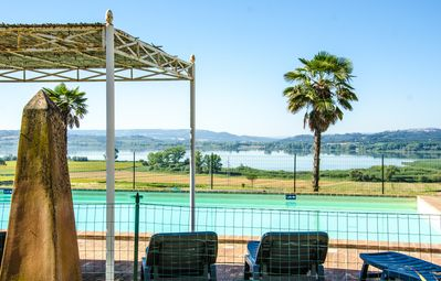 Photo for Farmhouse on Lake Chiusi near Montepulciano and other Tuscan villages