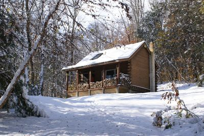 Cabin with Spring snow!