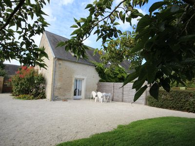 Photo for Cottage in the heart of the landing beaches, 2 km from the sea in a quiet location