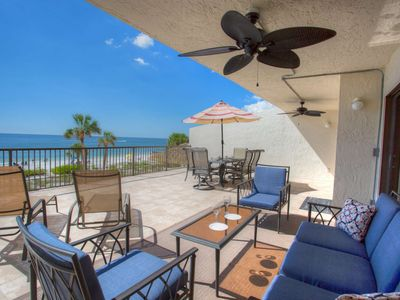 Photo for Enormous Private Beachfront Patio. Totally Renovated Inside.