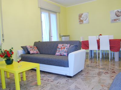 Photo for Large, sunny, with balcony overlooking the lake, 3 bedrooms, excellent location