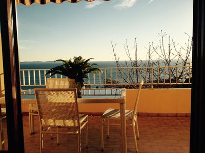 Photo for BEAUTIFUL APARTMENT - SEA VIEW ROAD exceptionally SANGUINAIRES