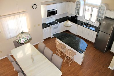 Well-equipped granite kitchen