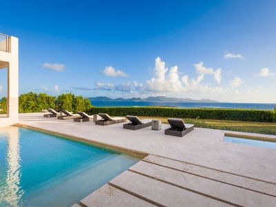 Photo for Beautiful Oceanfront 5 Bedroom Villa With Amazing Views Of Sea & St. Martin