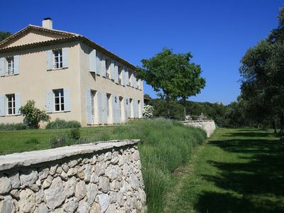 Photo for magnificent bastide with pool  and tennis walking distance from Aix en Provence