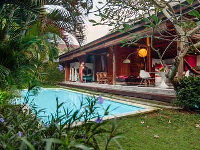 Photo for Family Friendly for Staycation Bali @2BR Wooden Private Villa Close to  Seminyak
