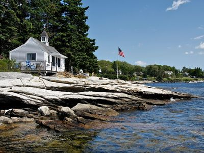 Photo for Oceanfront Retreat Cottage on Spruce PointBoothbay Harbor