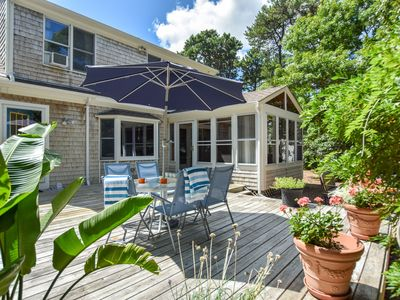 Photo for #439: Private Yard, Patio, Sunroom! 200 Yards from Cape Cod Rail Trail!