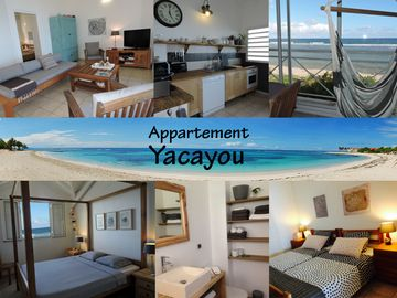 YACAYOU, apartment on the beach, with panoramic views of the lagoon