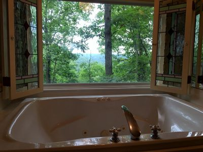Photo for Ozark Spring Cabins #1 Mountain View, King Bed, Giant Spa Tub, Kitchen, Secluded, Private Deck