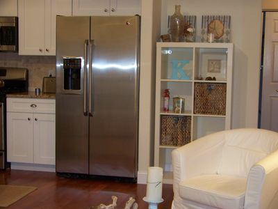 Large Stainless Fridge with Ice and Water Dispencer