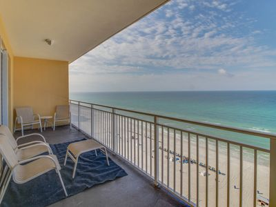 Photo for Stunning beachfront condo with shared pool and amazing ocean views!