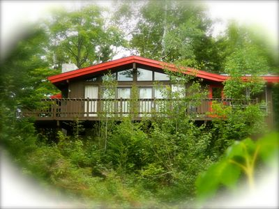 Photo for Rustic private chalet w/ view of mountain! Minutes from hiking/biking trails.