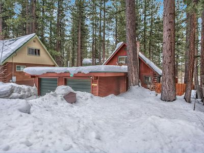 Photo for Tahoe Log Cabin with Beautiful Meadow and Mountain Views