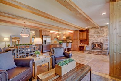 Open floor plan is great for socializing with friends and family