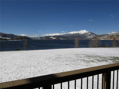 Photo for Dillon Ski Condo - Beautiful Mountain Views, Covered Deck, Elevator, Gas Fireplace, Close To Resorts
