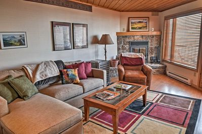 Kick back and relax on the comfy couches in the living area!