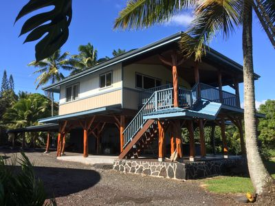 Photo for Secluded Orchid Farm House In Kalapana Near Active Lava - Ocean View, Jacuzzi