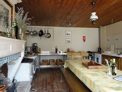 Well equipped farmhouse kitchen is set up to cater for larger families