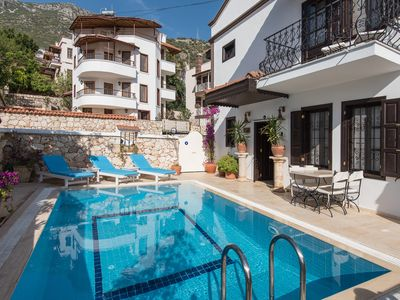 Photo for Villa Alarahan in central Kalkan Old Town with private heated pool, no taxis!