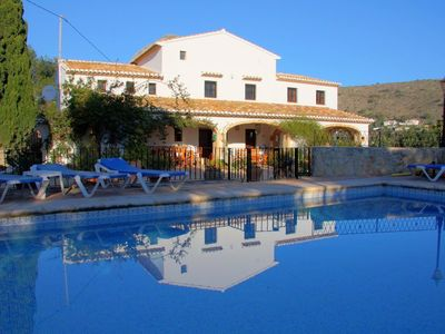 Photo for Gorgeous restored Finca. 4 Bed, private pool, FREE WiFi and Air-conditioning.