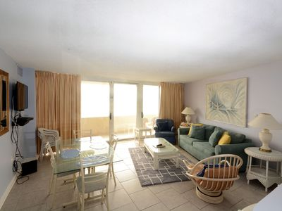 Photo for Pristine, Stylish 2 Bedroom Oceanfront Condo with an Outdoor Pool and Free WiFi in Great Midtown Location!