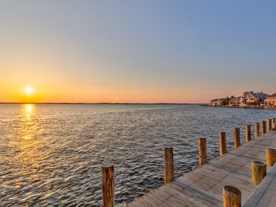 Photo for NEW LISTING! Bayfront, family-friendly condo w/patio, dock & panoramic views