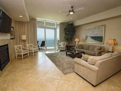 Photo for Gulf Front ~ Private Balcony Hot Tub/Grill ~ Great Amenities ~ Lazy River ~ Turquoise Place 2606C