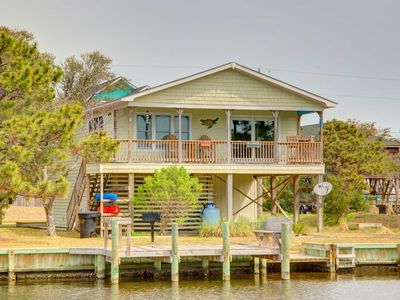 Photo for Canal front with private dock-- fishing, kayaking, crabbing all out your back door.