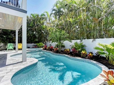 Photo for Beautiful, stylish home with private pool - walk to beach & dining!