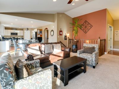 Photo for Updated, dog-friendly home for groups w/ hot tub, private patio