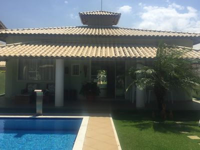 Photo for BEAUTIFUL HOUSE 3/4 SWIMMING POOL, BBQ, COND CLOSED VILAS DO JACUÍPE