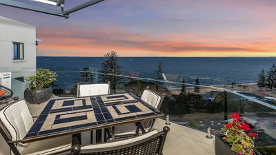 Photo for Pacific Vista Penthouse with Waterviews, pool & walk to Redcliffe CBD