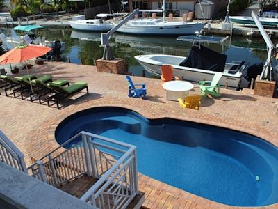 Photo for 4 BR Villa w/ pool Canal front-- Great access to the Ocean in Islamorada, Florida